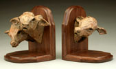 cow head bookends