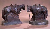 saddle horse bookends